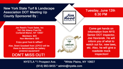 new york turf and landscape association dot meeting